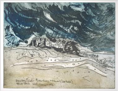 Bawdsey Point, etching and aquatint