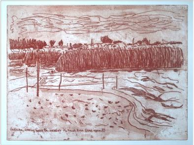 Covehithe Marshes, etching and aquatint