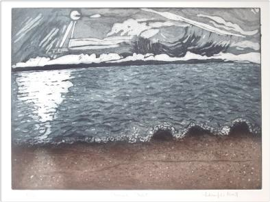 Shingle Street, etching and aquatint